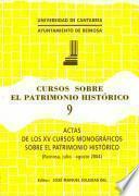 libro Actas De Los Xv Cursos Monográficos Sobre El Patrimonio Histórico