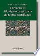 libro Comentario Filológico Lingüístico De Textos Castellanos