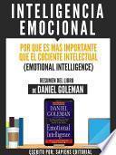 libro Inteligencia Emocional: Por Que Es Mas Importante Que El Cociente Intelectual (emotional Intelligence)