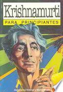 libro Krishnamurti Para Principiantes