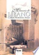 libro Memoria Del Líbano