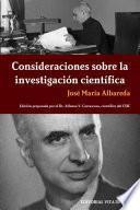 libro Consideraciones Sobre La Investigación Científica
