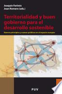 libro Territorialidad Y Buen Gobierno Para El Desarrollo Sostenible