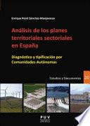 libro Análisis De Los Planes Territoriales Sectoriales En España