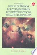 libro Manual De Técnicas De Investigación Para Estudiantes De Ciencias Sociales Y Humanidades