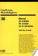 libro Manual De Trabajo De Campo En La Encuesta