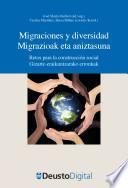libro Migraciones Y Diversidad / Migrazioak Eta Aniztasuna