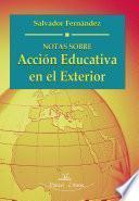 libro Notas Sobre Acción Educativa En El Exterior