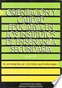 libro Orientación Y Calidad Educativa En Los Institutos De Enseñanza Secundaria