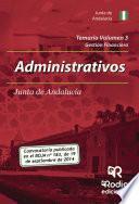 libro Temario Volumen 3. Administrativos De La Junta De Andalucía. Gestión Financiera