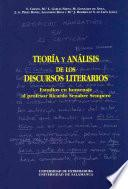 libro Teoría Y Análisis De Los Discursos Literarios