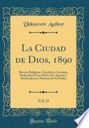 libro La Ciudad De Dios, 1890, Vol. 21