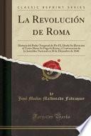 libro La Revolución De Roma
