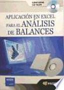 libro Aplicacion En Excel Para El Analisis De Balances