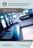 libro Aplicaciones Informáticas De Bases De Datos Relacionales. Adgn0108   Financiación De Empresas