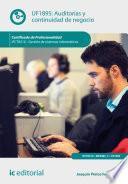 libro Auditorías Y Continuidad De Negocio. Ifct0510