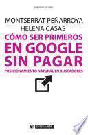libro Cómo Ser Primeros En Google Sin Pagar