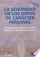 libro La Seguridad De Los Datos De Caracter Personal