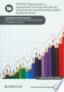 libro Organización Y Operaciones Con Hojas De Cálculo Y Técnicas De Representación Gráfica En Documentos. Adgg0308
