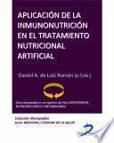 libro Aplicación De La Inmunonutrición En El Tratamiento Nutricional Artificial