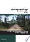 libro Apertura Y Mantenimiento De Vías Forestales
