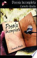 libro Poesía Incompleta