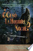 libro Cesó La Horrible Noche?
